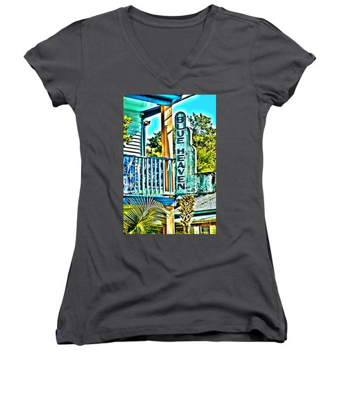 Blue Heaven In Key West - 1 Women's V-Neck