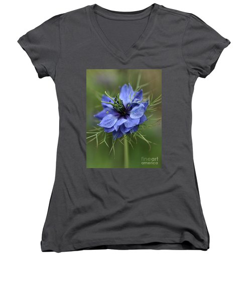 Women's V-Neck T-Shirt (Junior Cut) featuring the photograph Blue Love by Joy Watson