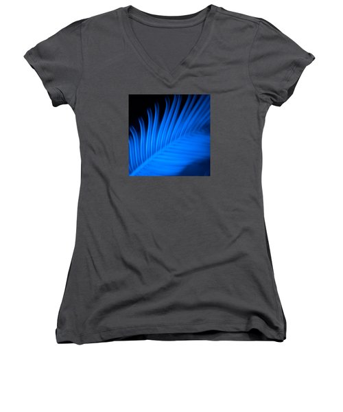 Blue Palm Women's V-Neck T-Shirt