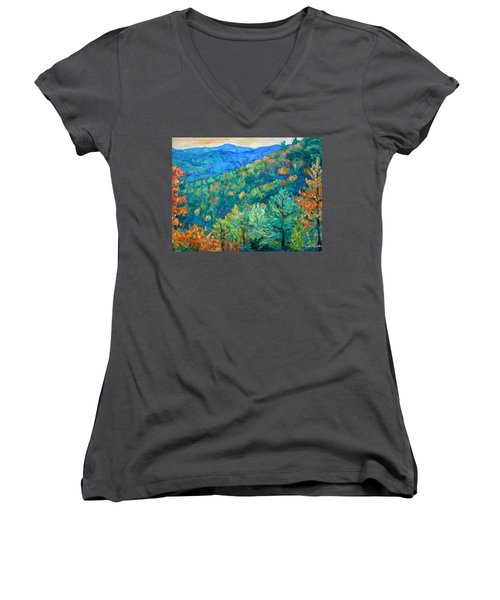 Blue Ridge Autumn Women's V-Neck