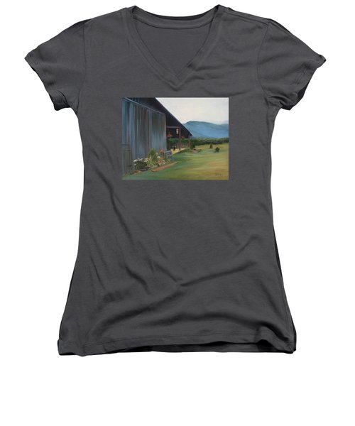 Blue Ridge Vineyard Women's V-Neck T-Shirt