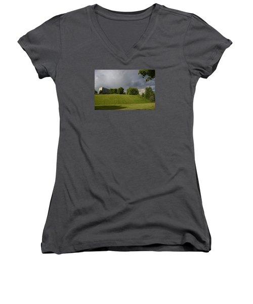 Blue Visions 3 Women's V-Neck T-Shirt