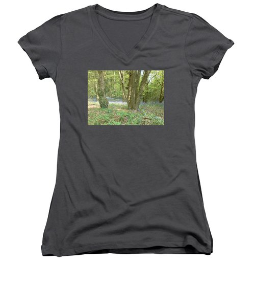 Bluebell Wood Women's V-Neck (Athletic Fit)