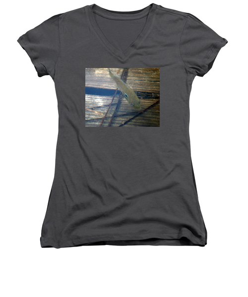Bluegill On The Hunt Women's V-Neck (Athletic Fit)