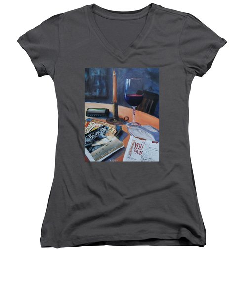Blues And Wine Women's V-Neck T-Shirt