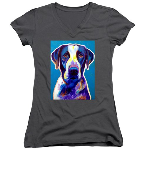 Bluetick Coonhound - Berkeley Women's V-Neck (Athletic Fit)