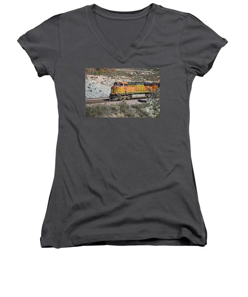 Bn 7678 Women's V-Neck T-Shirt (Junior Cut) by Jim Thompson