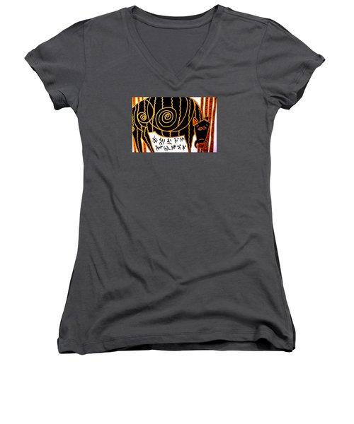 Boar Totem Women's V-Neck T-Shirt