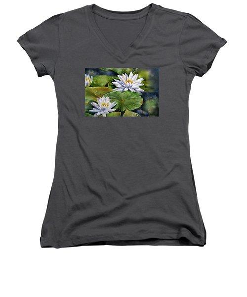 Boardwalk Lilies Women's V-Neck T-Shirt