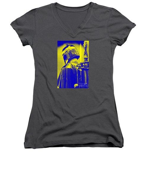 Boba Fett Costume 1 Women's V-Neck T-Shirt