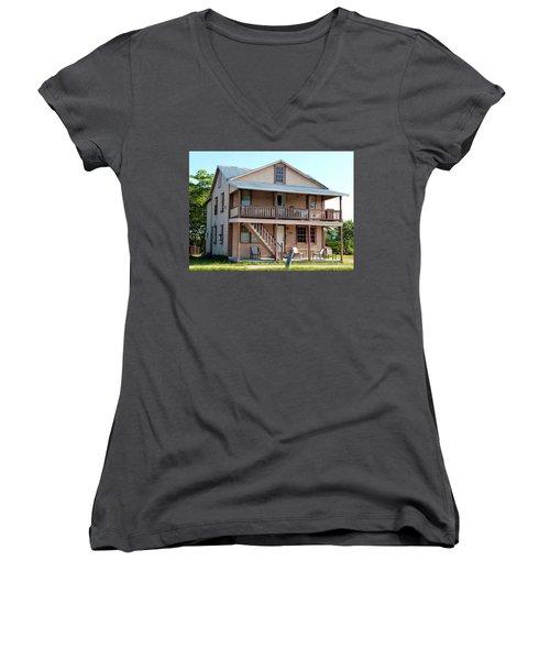 Women's V-Neck T-Shirt (Junior Cut) featuring the photograph Bodden House by Amar Sheow