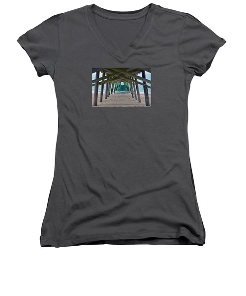 Bogue Banks Fishing Pier Women's V-Neck T-Shirt