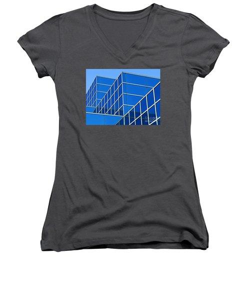 Women's V-Neck T-Shirt (Junior Cut) featuring the photograph Boldly Blue by Ann Horn