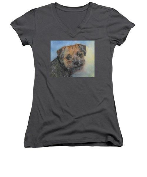 Border Terrier Jack Women's V-Neck T-Shirt