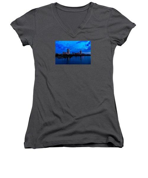 Boston Evening Women's V-Neck T-Shirt