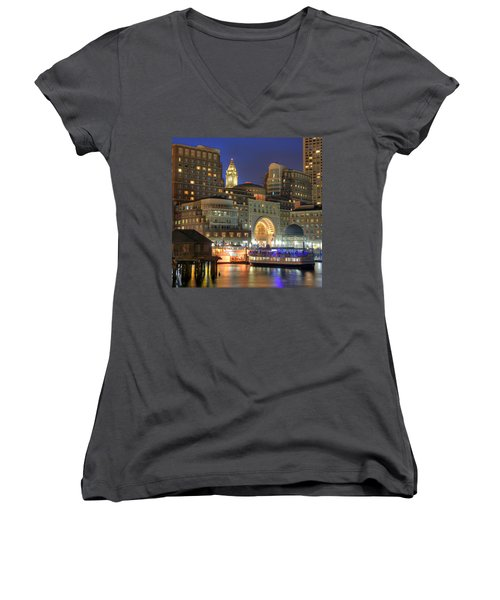 Boston Harbor Party Women's V-Neck T-Shirt