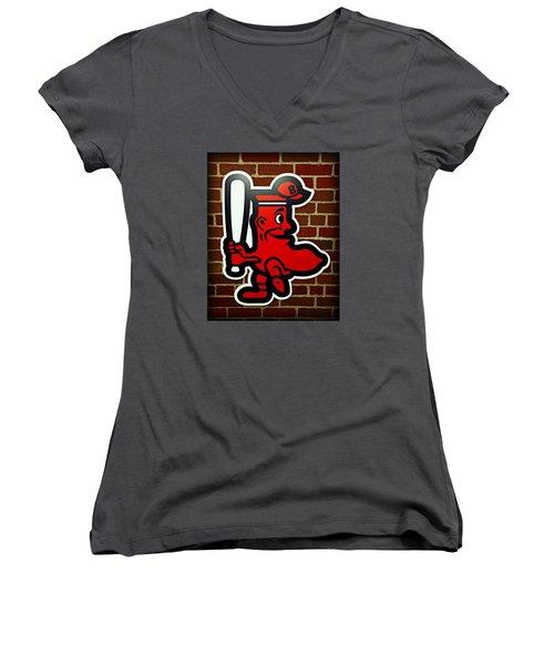 Boston Red Sox 1950s Logo Women's V-Neck T-Shirt
