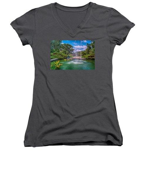 Botanical Garden Women's V-Neck T-Shirt