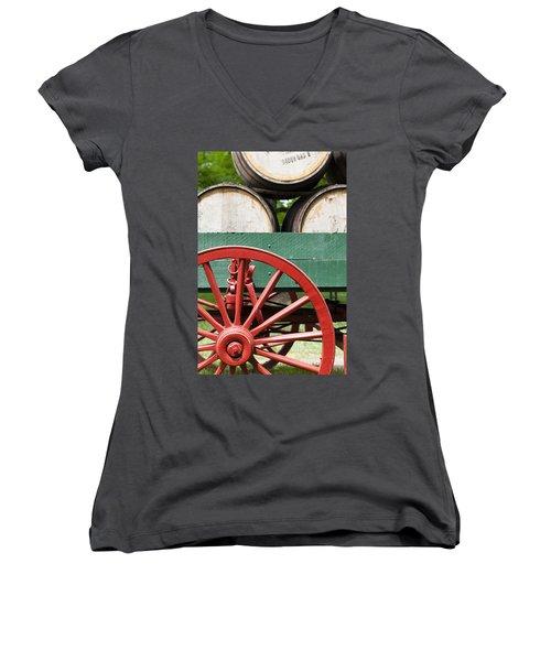 Bourbon Wagon Women's V-Neck (Athletic Fit)