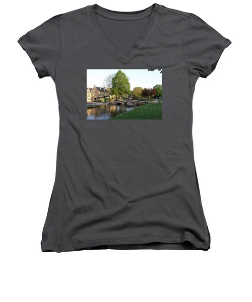 Bourton On The Water 2 Women's V-Neck T-Shirt