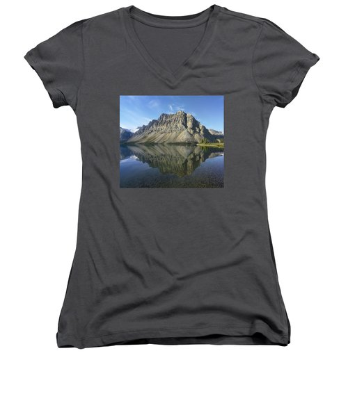Bow Lake And Crowfoot Mts Banff Women's V-Neck