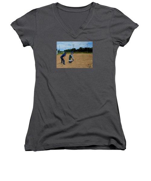 Boys Of Summer Women's V-Neck T-Shirt (Junior Cut) by Raymond Perez