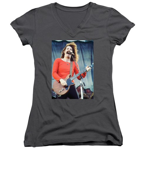 Brad Delp Of Boston-day On The Green 1 In Oakland Ca 5-6-79 1st Release Women's V-Neck (Athletic Fit)