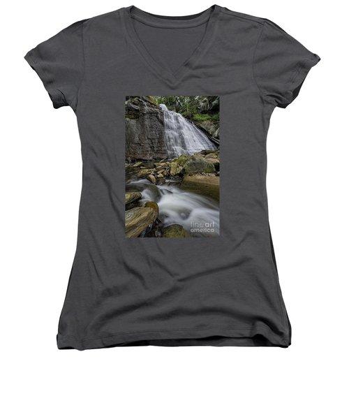 Brandywine Flow Women's V-Neck T-Shirt (Junior Cut) by James Dean