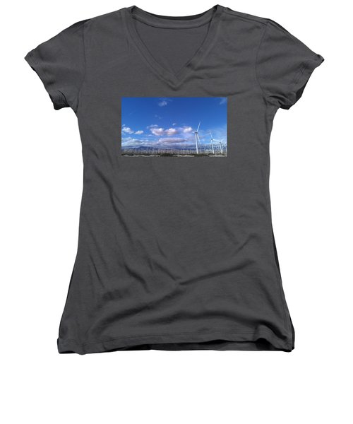 Women's V-Neck T-Shirt (Junior Cut) featuring the photograph Breeze by Chris Tarpening