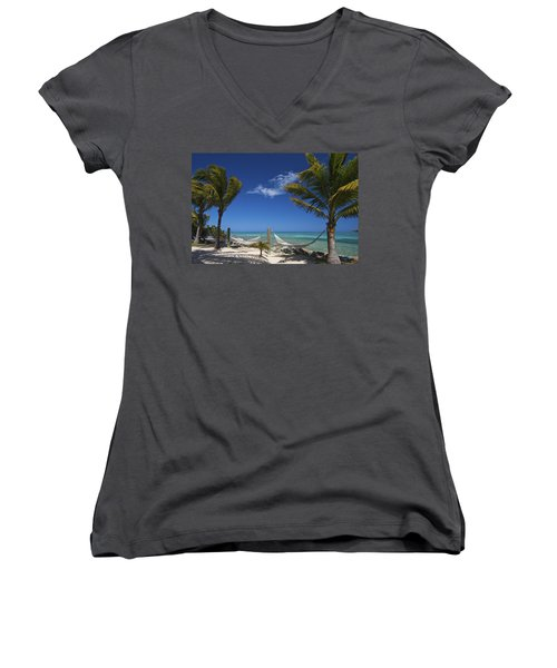 Breezy Island Life Women's V-Neck (Athletic Fit)