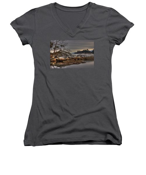 Tranquil Waters Women's V-Neck (Athletic Fit)