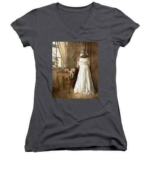 Bridal Trousseau Women's V-Neck T-Shirt (Junior Cut) by William Beuther
