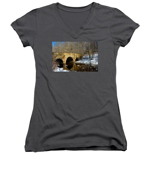 Bridge In Woods Women's V-Neck