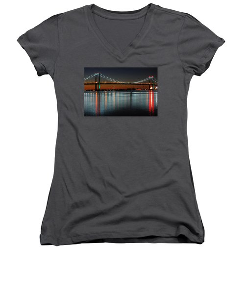 Suspended Reflections Women's V-Neck T-Shirt (Junior Cut) by James Kirkikis