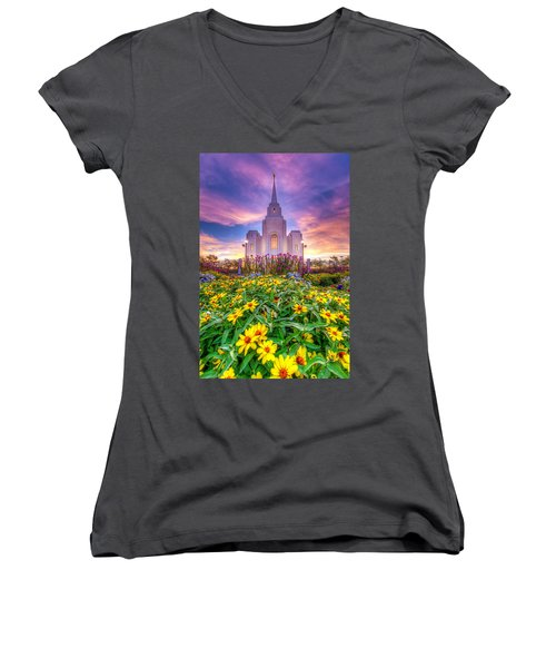 Brigham City Temple Women's V-Neck