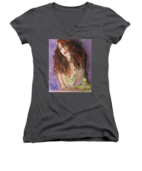 Bright Eyes Women's V-Neck T-Shirt
