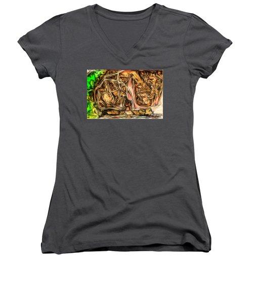 Bright Gloomy Roar Oar  Women's V-Neck T-Shirt