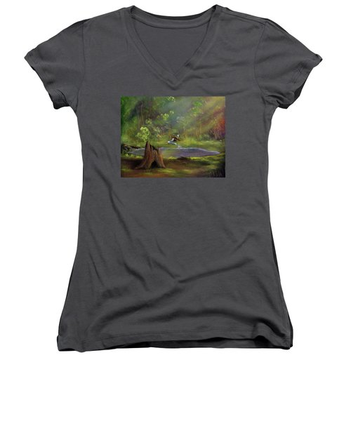 Brightening Women's V-Neck T-Shirt