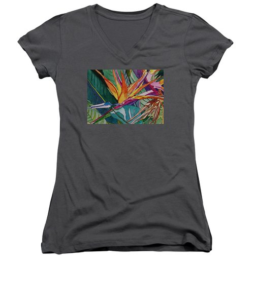Brillant Bird Of Paradise Women's V-Neck