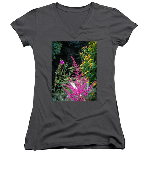 Brilliant Astilbe In Markree Castle Gardens Women's V-Neck
