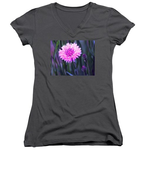 Brilliant Button Women's V-Neck