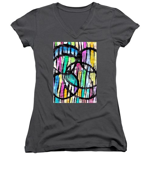 Broken Fences Women's V-Neck (Athletic Fit)