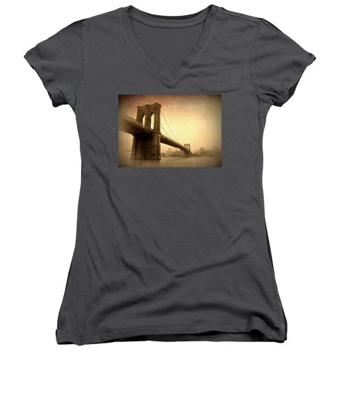 Brooklyn Bridge Nostalgia II Women's V-Neck