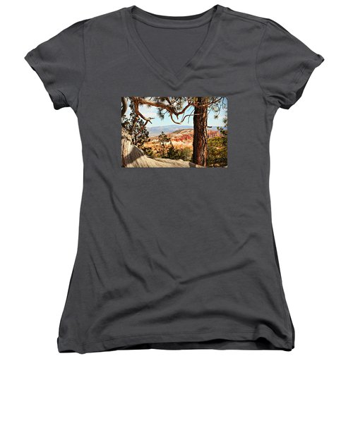 Bryce Canyon Through The Trees Women's V-Neck