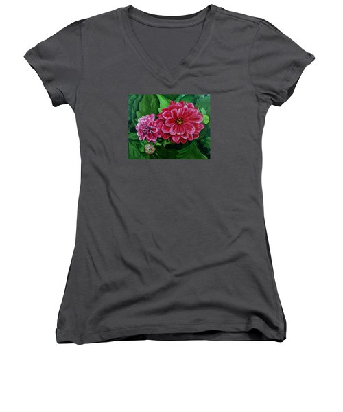 Buds And Blossoms Women's V-Neck