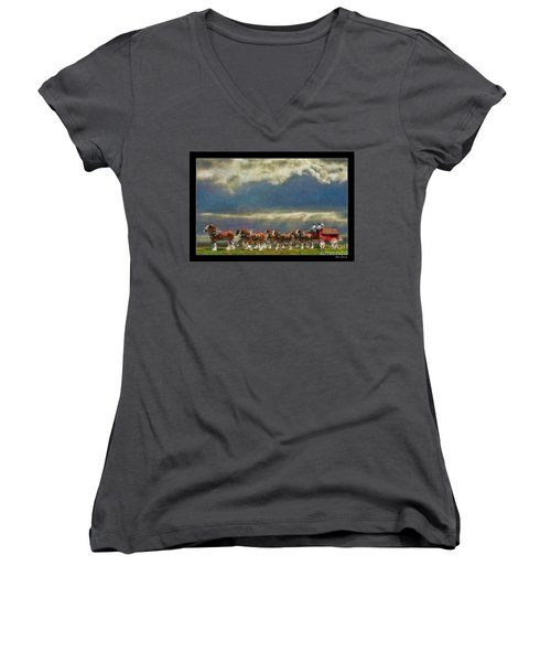 Budweiser Clydesdale Paint 2 Women's V-Neck