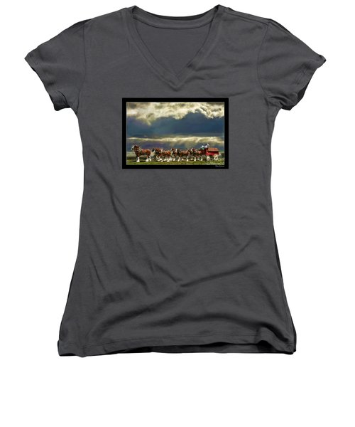 Budweiser Clydesdales Paint 1 Women's V-Neck