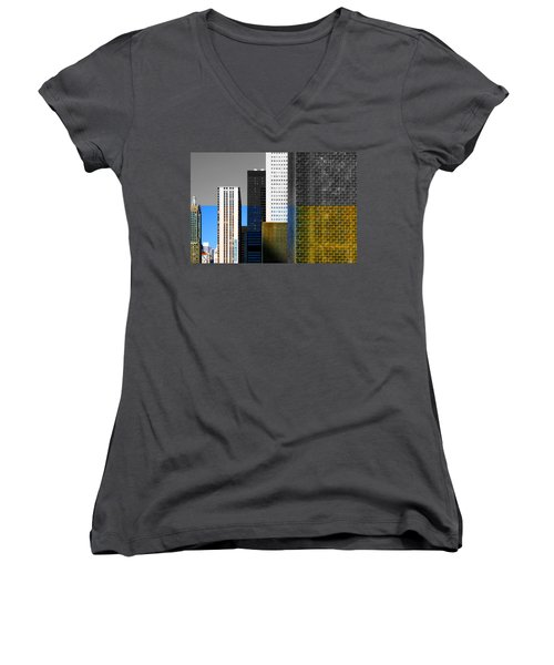 Building Blocks Cityscape Women's V-Neck