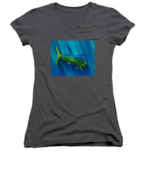 Bull Dolphin Women's V-Neck