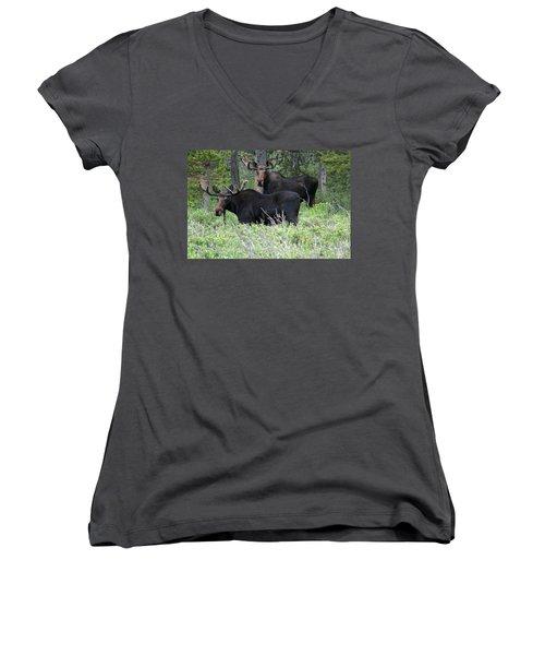 Bull Moose Women's V-Neck (Athletic Fit)